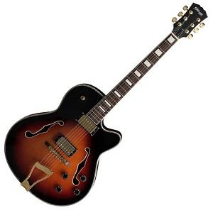Stagg A300-VS Guitarra de jazz electro-acústica Violinburst